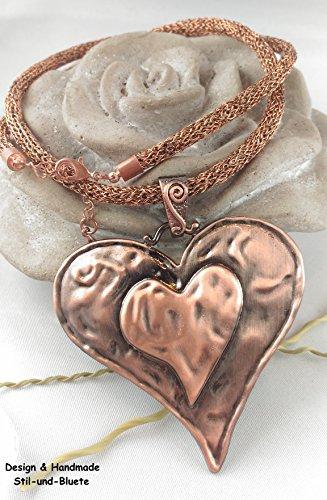 Halskette mit Herz-Anhänger Unikat