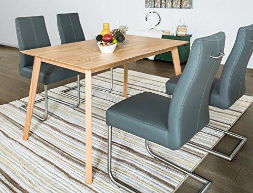 Esstisch Viano 120x80x75 cm Buche natur lackiert Massivholztisch Designertisch Esszimmertisch Wohnzimmertisch