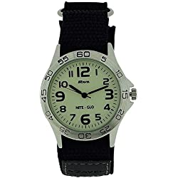 Ravel Nite-Glo Gents Quartz Luminous Dial Velcro Watch R1703.1