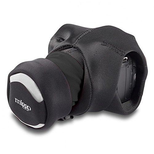 MIGGO Grip Wrap Strap für DSLR-Kameras-Schwarz (Lens Sleeve)