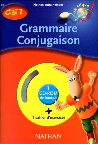 Grammaire conjugaison CE1, cahier d'exercices (1 CD-Rom inclus)