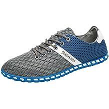 Culater Zapatillas Planos Hombre de Deporte de Moda Mesh Casual Zapatos Transpirables Cómodos