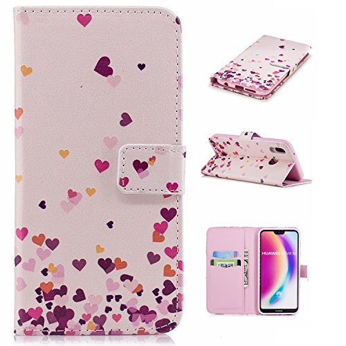 Case for Huawei P20 Lite Wallet Luxury PU Leather Flip Protective Case Cover with Card Slots and Stand (S), 14