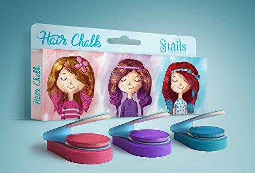 Snails 30002601 Haarkreide 3er Pink/Rosa/Blau