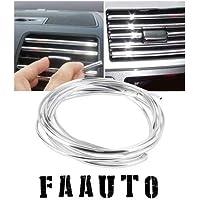 Faauto AC Car Vent beeding car chrome beeding 3 Meter for Maruti Suzuki Swift Dzire
