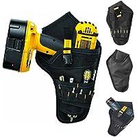 asosmos de Heavy Duty Drill Holster Tool Belt Pouch Bit Holder Hanging Waist Bag Drill Tool Storage Bags, color Black, tamaño onesize
