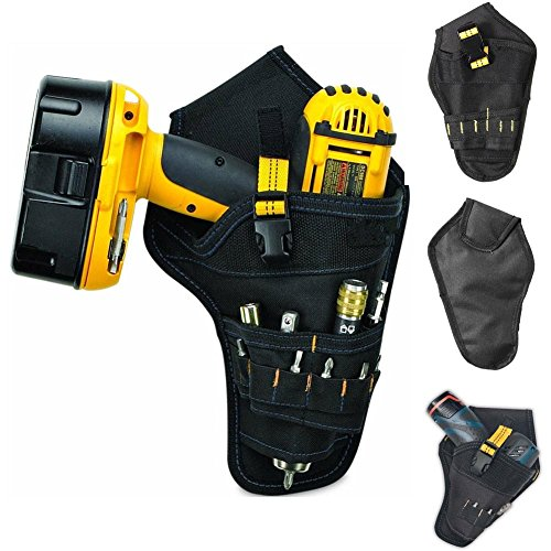 ASOSMOS Heavy-duty Drill Holster Tool Belt Pouch Bit Holder Hanging Waist Bag Drill Tool Storage Bags - Drill-pouch