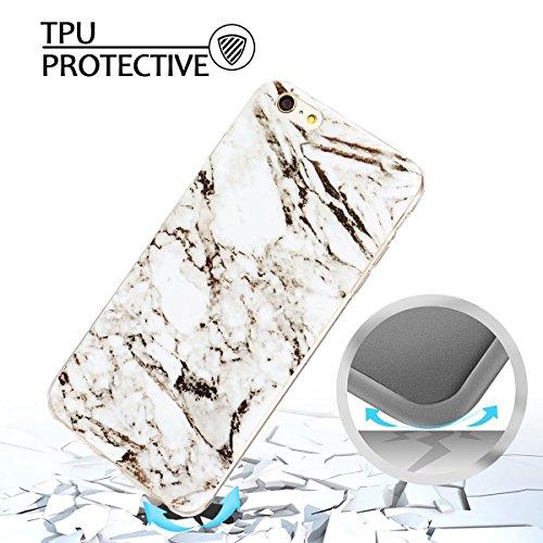 iphone 6 plus Hülle, Marmor Design Muster TPU Dünn Silikon Schutzhülle für iphone 6 plus , E-lush Kristallklar Durchsichtig Kratzfeste Handyhülle Ultra Chic Thin Weich Schutzhülle Rückschale Etui Bump grau