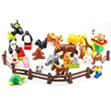 Best Gifts For 3 Year Old Boys Legos - Sunarrive Animals Farm Figures Blocks Toys Set Review