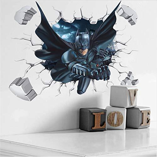 3D Wirkung Gebrochene Batman Dekorative Wandaufkleber Für Kindergarten Kinderzimmer Dekorationen Home Pvc Wandkunst Aufkleber Poster Tapete 50 * 70 Cm