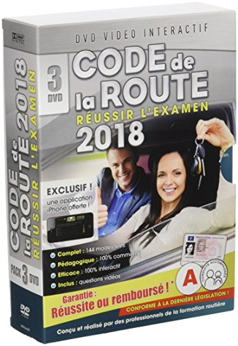 Code de la route 2018 - 3 DVD [DVD Interactif]