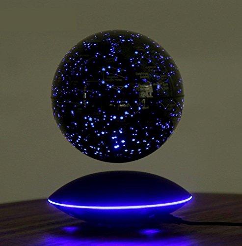 CELO Alto nivel Decoración regalo Globo flotante de levitación magnética 6 pulgadas Mapa del mundo inteligente Vistoso Luz LED , Black