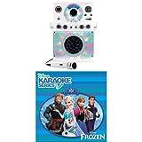 Singing Machine Karaoke Equipment White Bundle with Frozen CD
