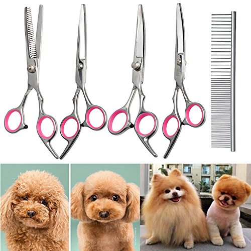 CAMWAY 6' Forbici da Taglio Professionale per Capelli Pet Dog Grooming Kit Curved Shears Tool per Pet Dog Cat Small & Large & Big