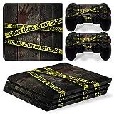 46 North Design pieno sticker della pelle skin Crime Scene per le console PS4 Pro x 1 e controller x 2
