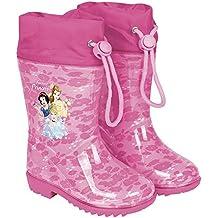 Botas de Agua para Niñas Princesas Disney- Botines Impermeables Cenicienta  Rapunzel Blancanieves con Suela Antideslizante cbfefd3f45a7