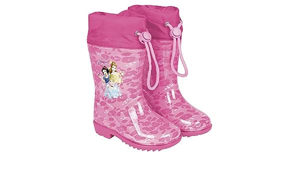 Le Ragazze Principessa Disney Bambino Junior Stivali di Gomma Impermeabili Pioggia Splash Stivali UK 4-12