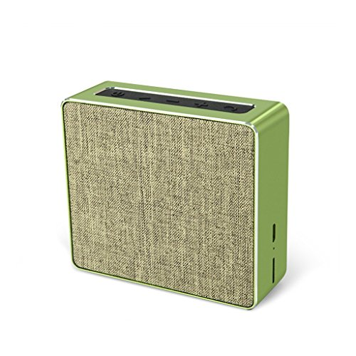 WANG Bluetooth Lautsprecher Wireless Portable Home Office Sackleinen Kunst Karte Audio Stereo Subwoofer (Farbe : Green)