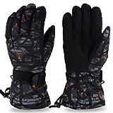 iClosam Schi Handschuhe für Herren und Damen, Winter Sporthandschuhe Skihandschuhe Warm Winterhandschuhe Winddicht Wasserdicht rutschfest Atmungsaktiv für Outdoor-Sport