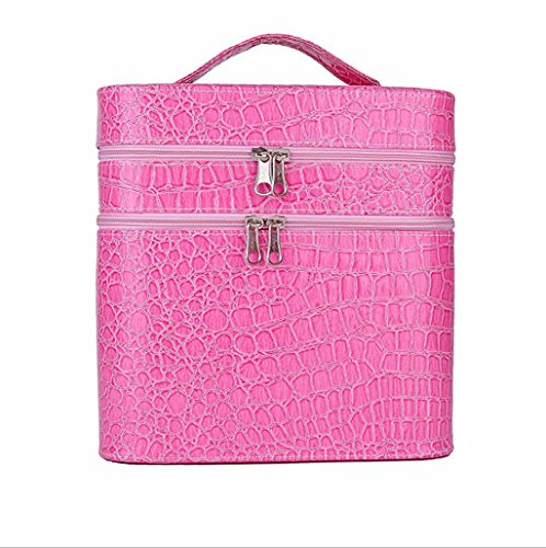 asvert-make-up-box-double-layer-beauty-sturdy-leather-large-cosmetic-storage-cases-for-women-pink