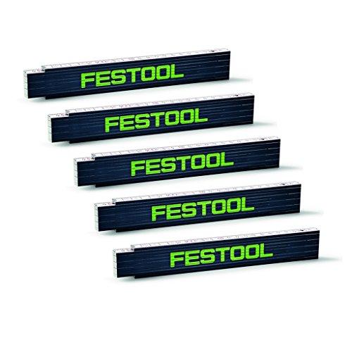 Festool Meterstab - MS 2m - Maßstab - Zollstock - Gliedermaßstab - Meter Nr. 201464 - 5 Stück