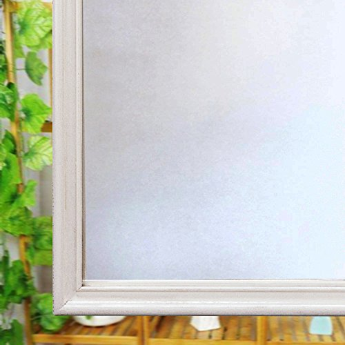 Ventana privacidad de vidrio esmerilado película, película, reutilizable anti-UV de lámina estática para ventana cristal casa, vinilo, 60CM*200CM