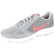 Nike - Wmns Revolution 3 - 819303002 - Color: Gris-Naranja - Size: 37.5