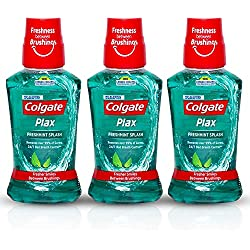 Colgate Plax Fresh Mint Mouthwash, 250ml (Pack of 3)