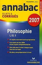 Philosophie Tle L, ES, S : Sujets et corrigés