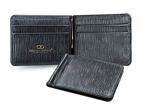 Dollarbörse Premium Leder Manhattan schwarz mit Paglia Narbung -
