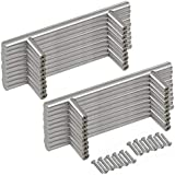Yaheetech meubelgreep 20 stuks 128 mm roestvrij stalen handgrepen T-grepen diameter 12 mm