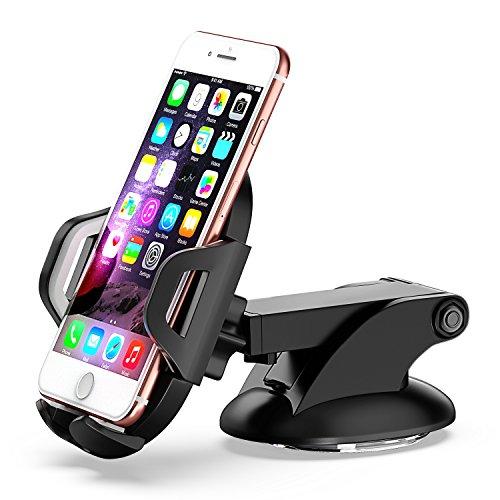 Comsoon Support Téléphone Voiture, Support Voiture Auto Universel Ventouse sur Pare-Brise et Tableau de Bord avec Bras Télescopique pour iPhone X/8/7 Plus/6S, Samsung, LG, Sony, GPS, Huawei etc