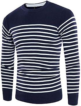 HDYS Los hombres suéter otoño juvenil banda cuello-yi ,azul marino,l