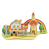 Ears 3D Haus Kinder Geschenk 4D Paper Board Puzzle Früherziehung Bau Montieren Spielzeug Kinder Geschenk