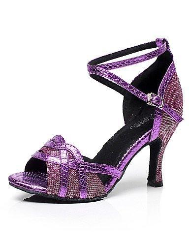 Dimensions shangyi ajustables–gefertigter Paragraphe–Glitter–Latin/Sport/Chaussures d'entraînement–Femme Violet - violet