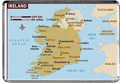 CFL M096 KARTE VON IRLANDS KÜHLSCHRANKMAGNET IRLAND REISE KÜHLSCHRANKMAGNET (Von Irland Reise-karte)