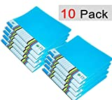 #8: Knowteq 10 Pcs Transparent File Folder Case , A4 Size Presentation File / Report File Super Line Transparent Report File