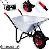 Monzana® Schubkarre ✓ 70-100 LITER ✓ Transportwagen Gerätewagen Gartenkarre bis 200kg ✓ Modellauswahl 70 / 80 / 100 L ✓ Luftbereift ✓ robuste Griffe