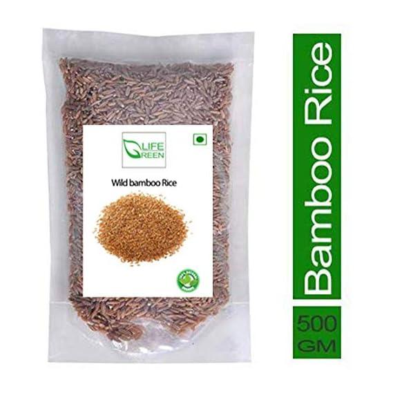 GreenLife Natural&Wild Wyanad bamboo Rice,mulayari,brown rice, Moongil Rice 500Gm Ayurvedic Tribal Rice Mulayari