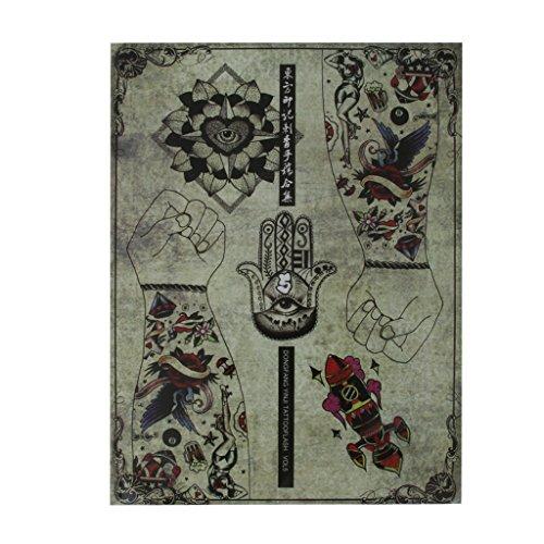 Magazine Livre de Référence de Tatouage Manuscrit 86 Pages Crânes Oiseaux Fleur Insecte