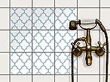 creatisto Sticker-Fliesen | Selbstklebende Fliesenfolie Badezimmerfolie Dekorfolie Badgestaltung | 15x15 cm Muster Ornament Retro Pattern - Blau - 9 Stück