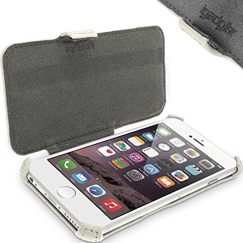 igadgitz Premium Folie Grün PU Ledertasche Schutzhülle für Apple iPhone 6 & 6S 4.7 Zoll Case Cover Mit Betrachtungs Stand + Displayschutzfolie Weiß