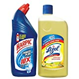 #8: Harpic Toilet Original Cleaner, 1 L with Lizol Floor Cleaner, 975ml (Citrus)