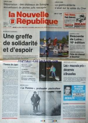NOUVELLE REPUBLIQUE (LA) [No 13854] du 28/04/1990 - BESANCON - THCERNOBYL / UNE GREFFE DE SOLIDARITE ET D'ESPOIR - L'HUMEUR DES JUGES PAR GUENERON - VOLVO-MITSUBISHI / RENAULT A PEUR D'UN ACCORD - MARATHON AGRICOLE - PLANCHE A VOILE - FETE DU CHEVAL A SAUMUR -