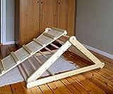 Pikler-Dreieck, Schrittdreieck, Kletterleiter für Kleinkinder, Kletterdreieck für Kleinkinder, Sie können Dreieck ohne Brett oder mit einem oder zwei Brettern in den Optionen wählen.