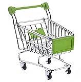 NiceButy Mini Supermarket Carro de mano para la compra, organizador de almacenamiento, regalo para niños, juguete de Navidad