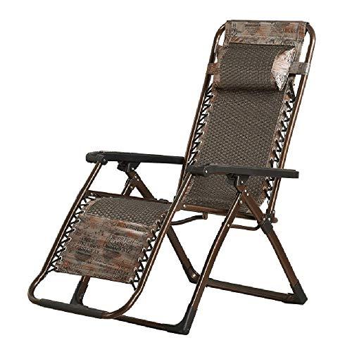 XUE Schaukelstuhl Schwerelosigkeit Gartenliege Klappbare Liege Atmungsaktives Teslin-Netzgewebe Abnehmbare Kopfstütze Relaxer Sonnenliege Stuhl für Strand Terrasse Balkon,B - Sling Patio Möbel