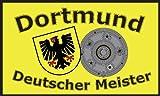 Dortmund Deutscher Meister Motiv: neutral Fussball Fahne Flagge Grösse 1,50 x 0,90m mit 2 Ösen - FRIP –Versand®