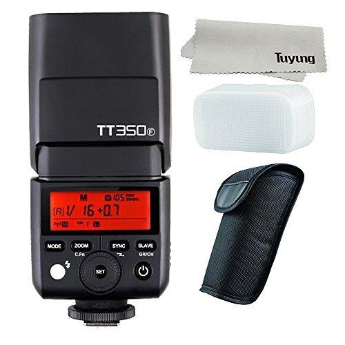 Godox mini tt350f 2.4g hss 1/8000s gn36ttl flash della fotocamera speedlite per fotocamere fuji X-Pro2, X-T20,X-T2, X-T1, X-Pro1, X-T10, X-E1, X-A3, X100F, X100T.