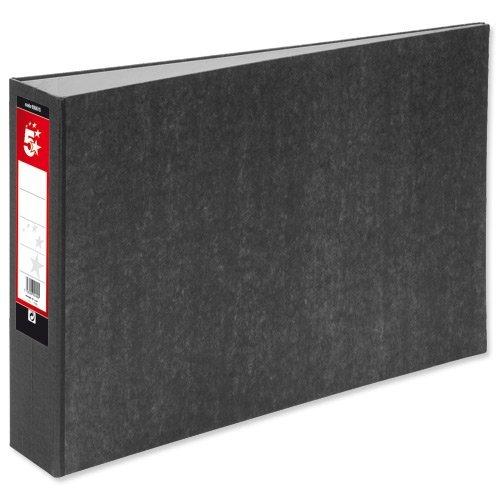 5 Star Lever Arch File 70mm Spine Oblong Landscape A3 Cloudy Grey [Pack 2] (Arch Pack)
